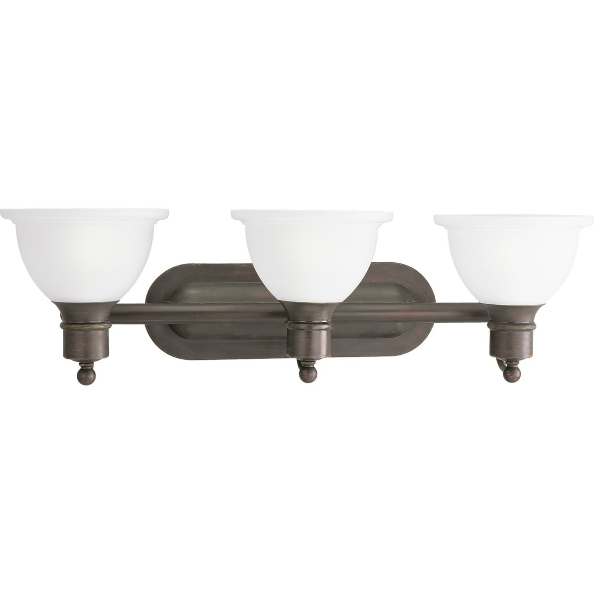 PRO P3163-20 Three Light Antique Bronze Etched Glass Vanity 3X100M