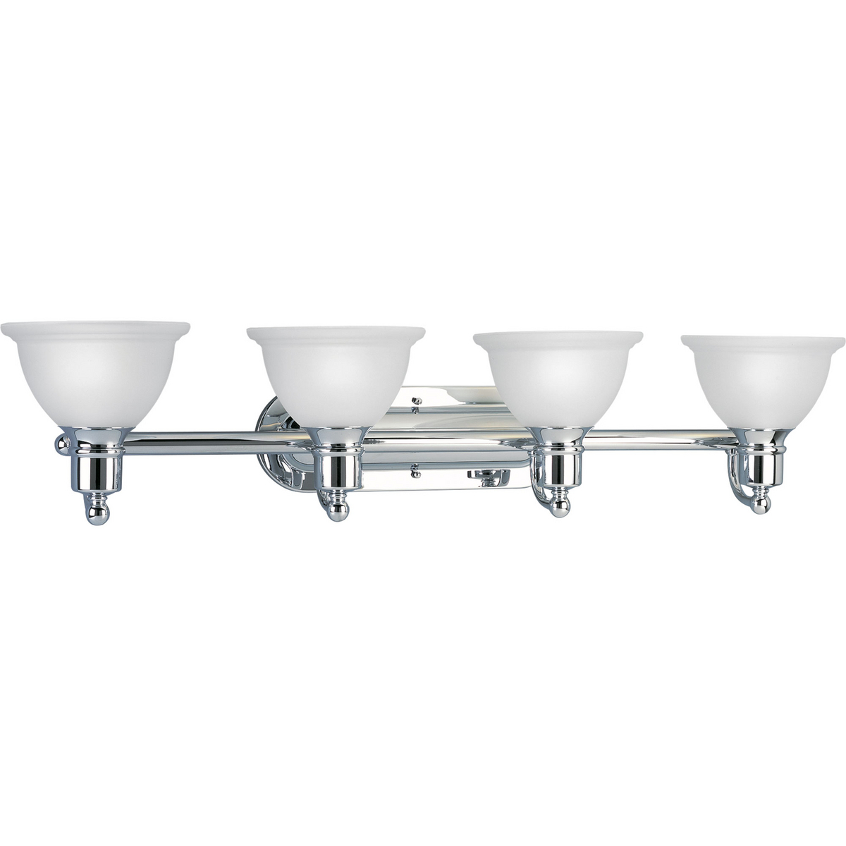 PRO P3164-15 Four Light Polished Chrome Etched Glass Vanity 4X100M