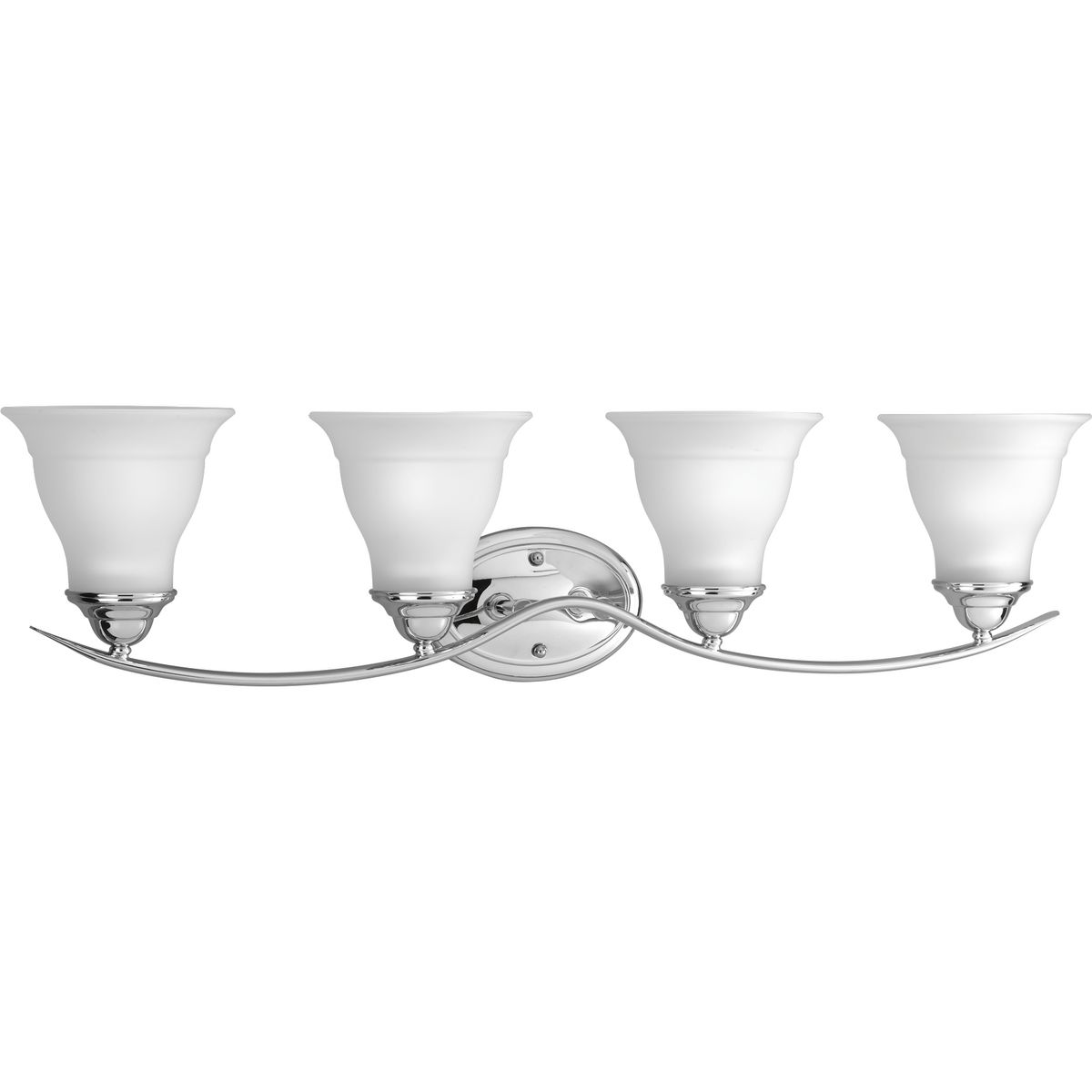 PRO P3193-15 Four Light Polished Chrome Etched Glass Vanity 4X100M