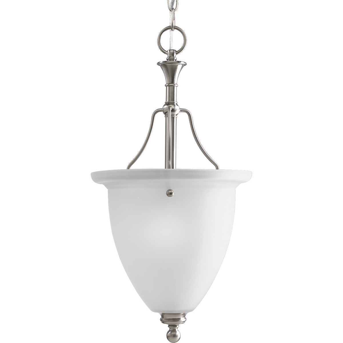 PRO P3793-09 1X100M Brushed Nickel Etched Glass Foyer Hall Pendant