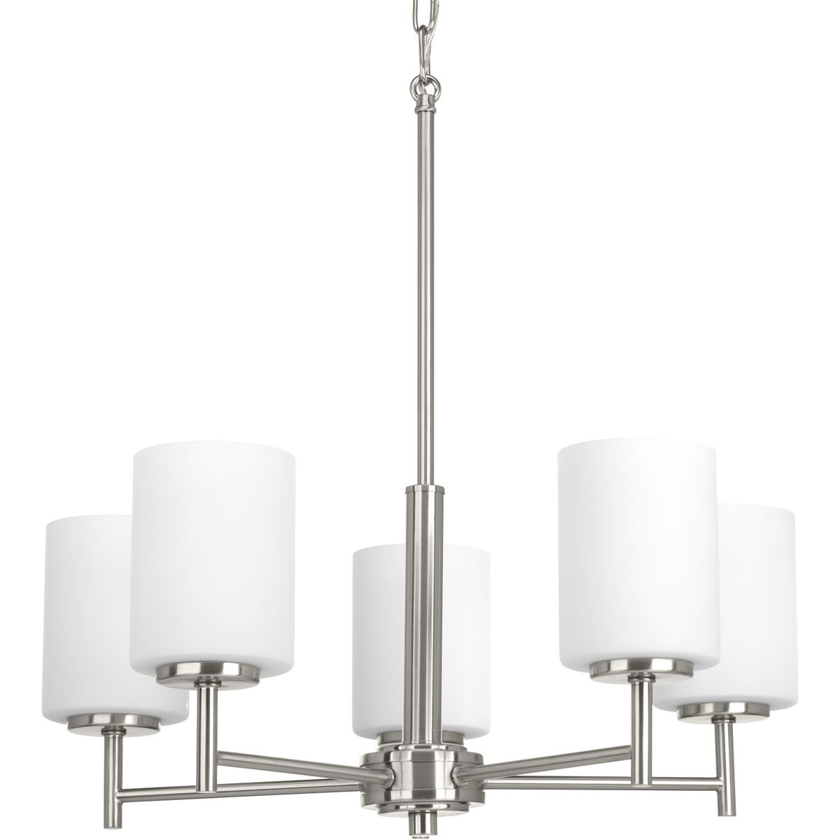 PRO P4319-09 5X100M Replay Brushed Nickel Chandelier