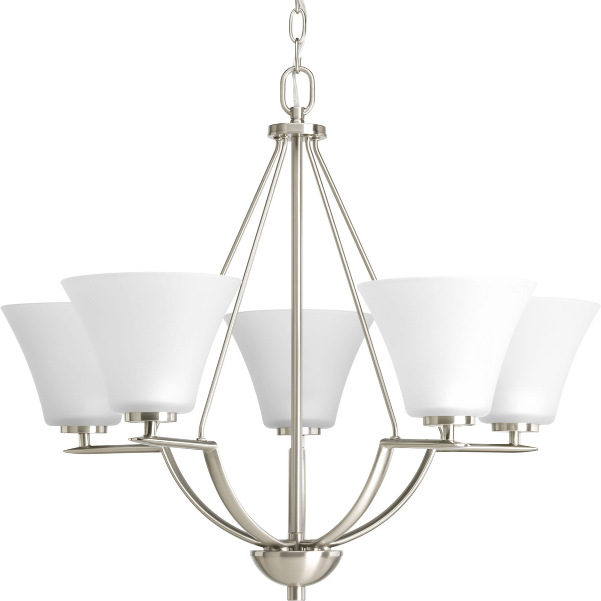 PRO P4623-09 5X100M Brushed Nickel Bravo Chandelier