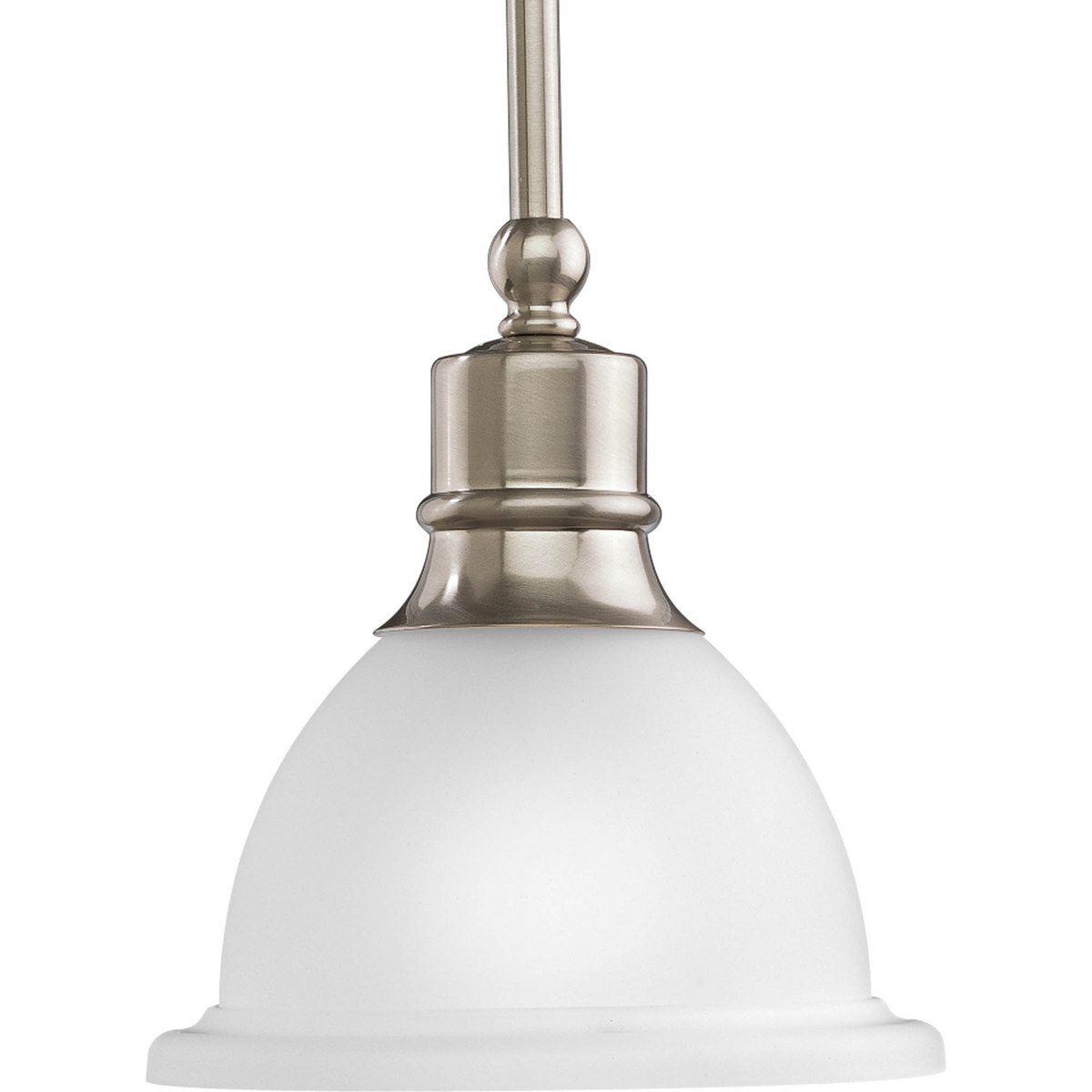 PRO P5078-09 1X100M Brushed Nickel Etched Glass Mini Pendant
