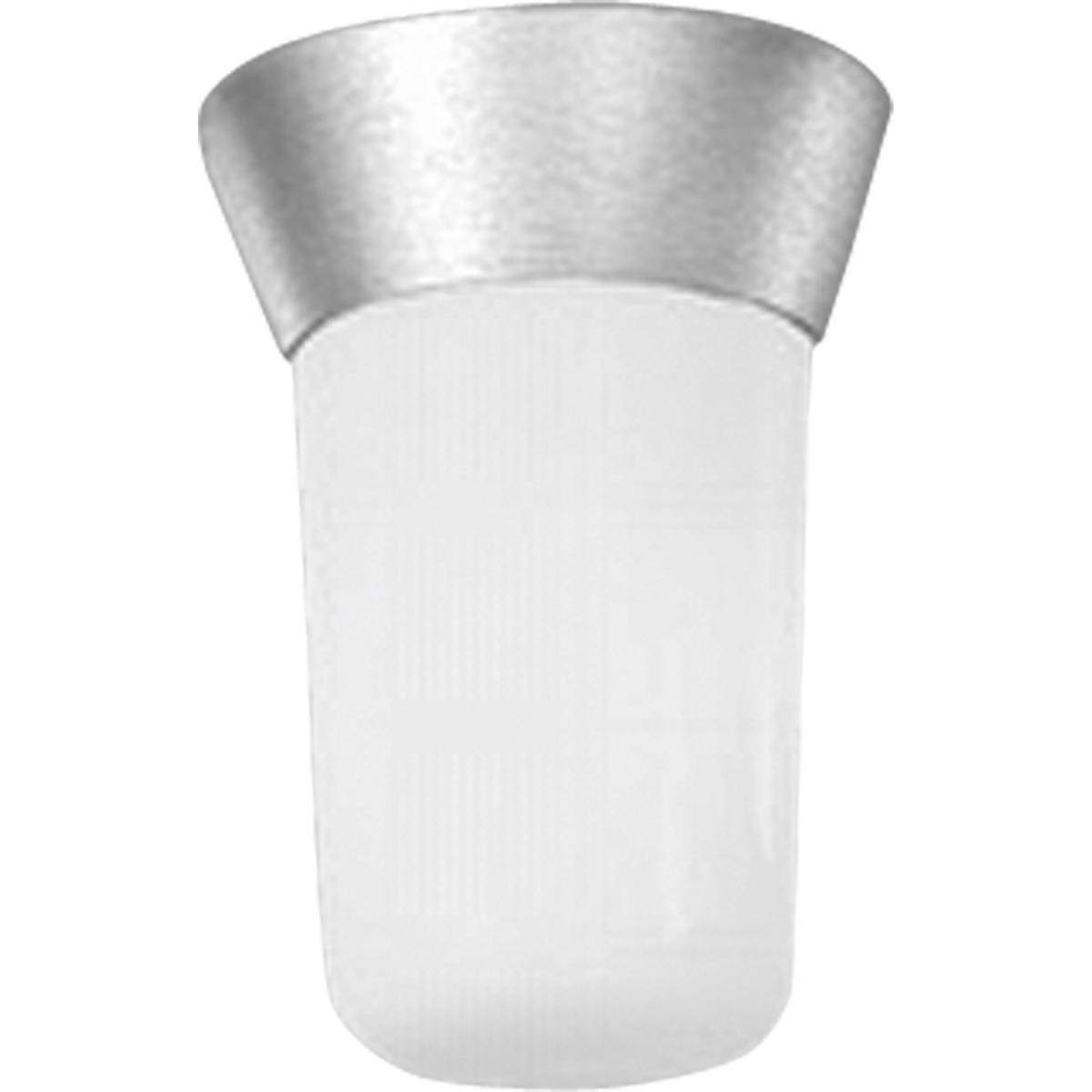 PRO P5510-16 One Light Satin Aluminum White Opal Glass Flush Mount 1X60M * RED TAG ITEM *