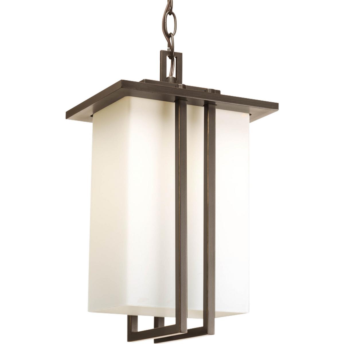PRO P5590-20 1X100M Antique Bronze Opal Etched Glass Hanging Lantern