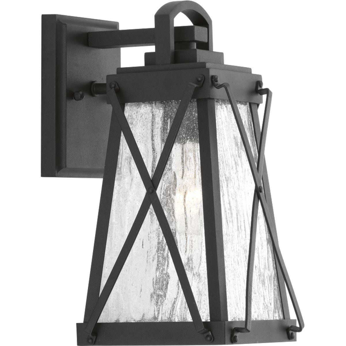 P560031-031 PROGRESS CREIGHTON 1-100W MED WALL LANTERN BLACK