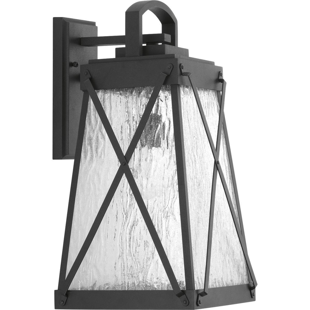 P560033-031 PROGRESS CREIGHTON 1-100W MED WALL LANTERN BLACK