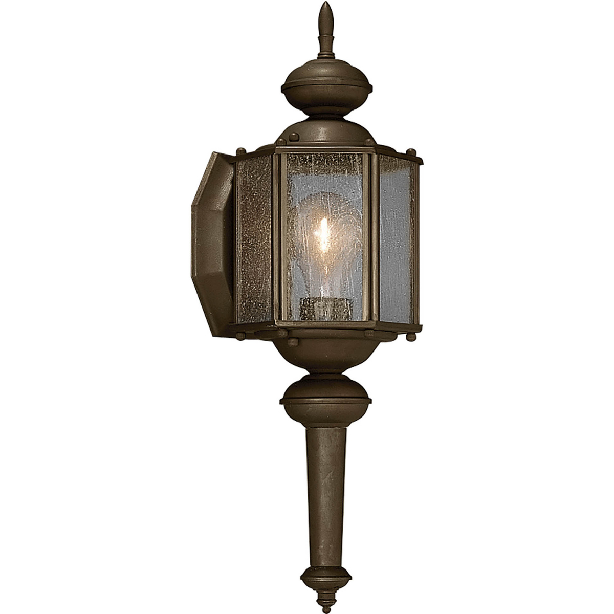 PRO P5773-20 1X100M Antique Bronze Clear Seeded Glass Wall Lantern