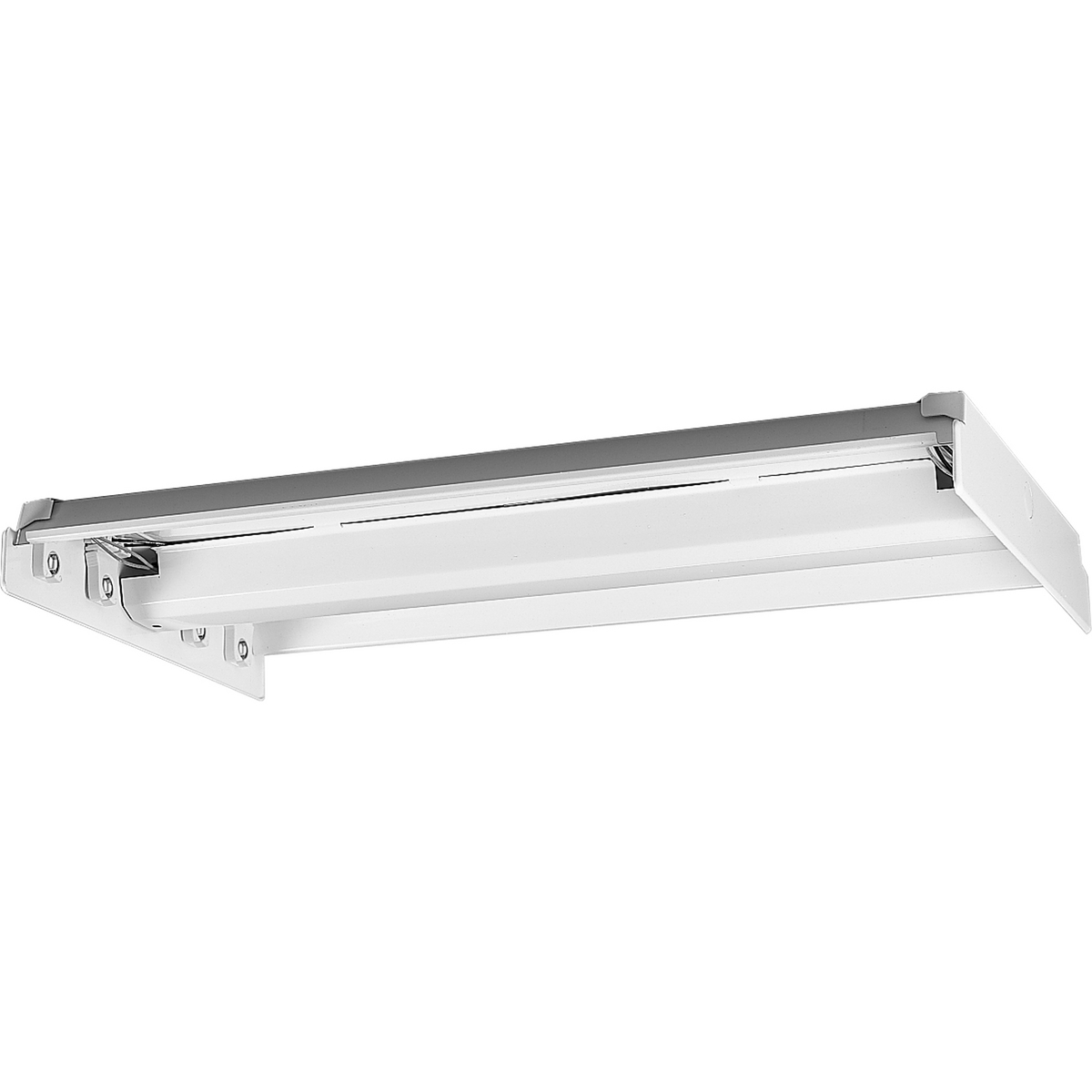 PRO P7215-30EB Four Light White Fluorescent Chassis 4XF32T8