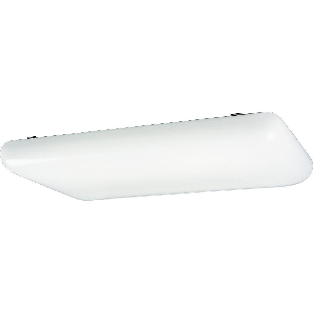 PRO P7280-60EB Four Light White Acrylic Cloud Fluorescent 4XF32T8 -MIM-