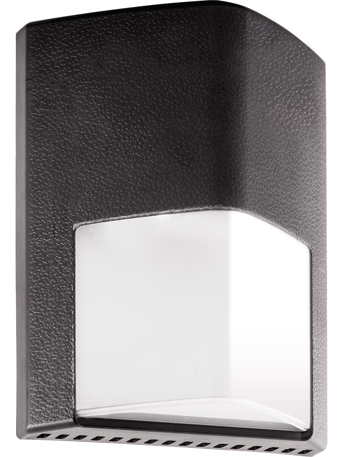 RAB ENTRA12 ENTRA NARROW LED BRONZE WALLPACK - 12W -1284LUMENS - 5000K - 120V-277V DLC COMPLIANT