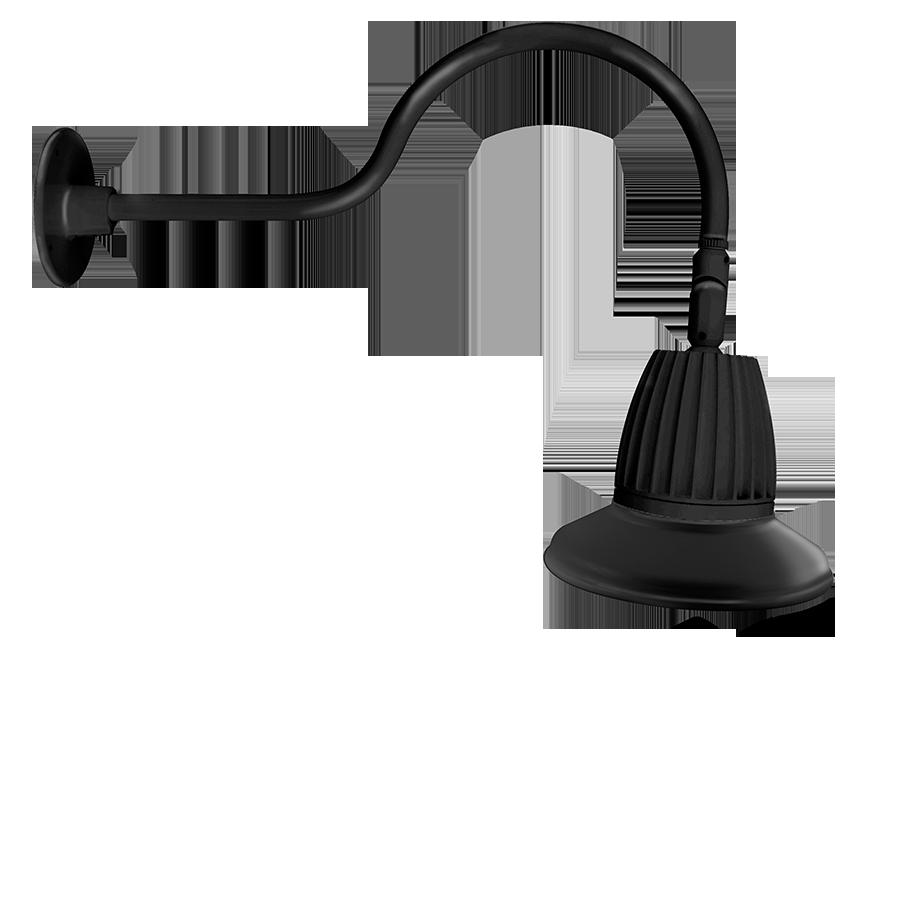 RAB GN1LED26NST11B GOOSENECK STYLE1 26W NEUTRAL LED 11 STRAIGHT SHADE BLACK