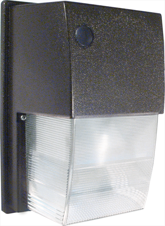 RAB WPTF42 TALL WALLPACK - 42W COMP FLUOR - QUAD-TAP HPF BALLAST - POLY LENS - 120V PHOTOCONTROL W/LAMP - BRONZE CS=6 NONSTOCK