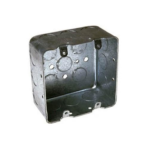 RACO,680,RACO® 680 Device Switch Box, Steel, 30.3 cu-in, 2 Gangs, 17 Knockouts