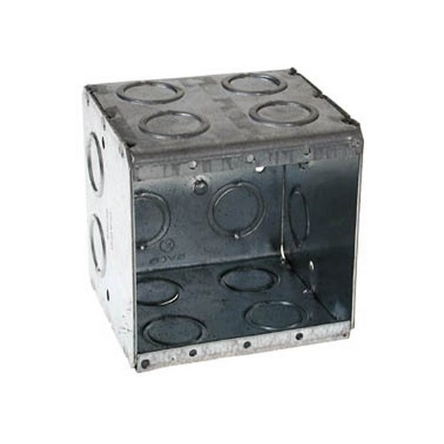 RACO,696,RACO® 696 Non-Gangable Masonry Box, Steel, 45 cu-in, 2 Gangs, 2 Outlets, 24 Knockouts