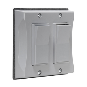 rac 5127-0 RACO 2G WP Decorator Switch - Gray Cover only