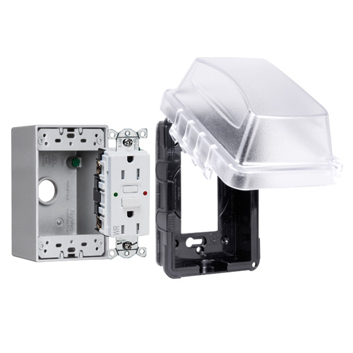 MKG410CS RACO 1G WP BOX / IN-USE CVR / ST GFCI KIT 05016950439