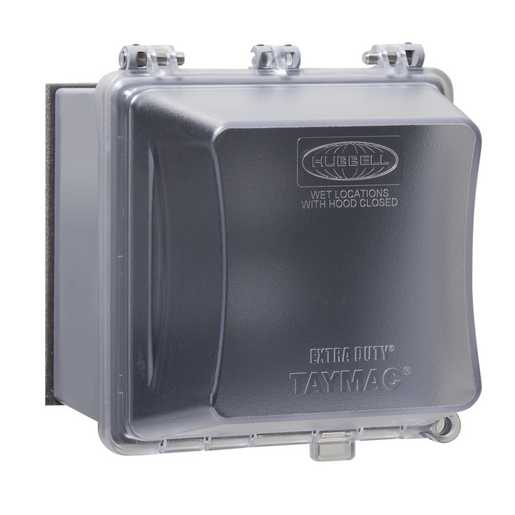 TAYMAC MM7420C 2GANG WP EXTRA DUTY55IN1 IN-USE COVER 4-3/4 CLEAR