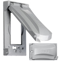 TAY MX1050S 1G GRAY WP METAL VERT COVER 12-IN-1 CS=20 Meets or Exceeds Extra Duty Specifications