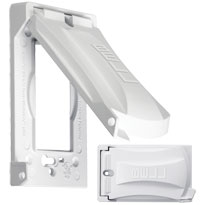 TAY MX1050W 1G WHITE WP METAL VERT COVER 12-IN-1 CS=20 Meets or Exceeds Extra Duty Specifications