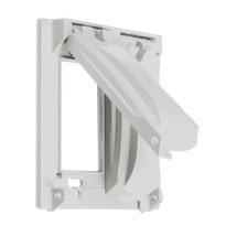 TAY MX2050WH 2G WHITE WP METAL COVER 25-IN-1 CS=8 Meets or Exceeds Extra Duty Specifications