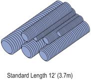 P-STRUT PS-146-1/4X10-EG ALL THRD