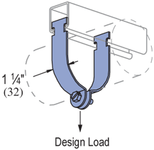 """PIPE CLAMP, 1"""" CONDUIT, SS"""