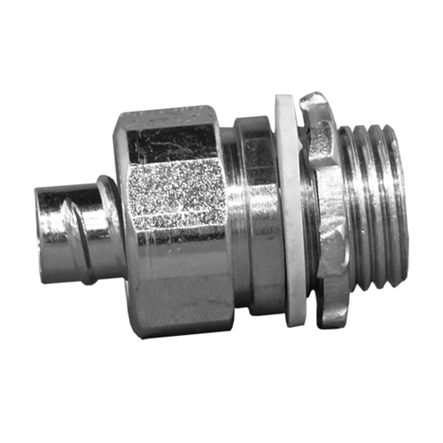 1.75 Length One Screw 1 Flexible Conduit 1.28-1.44 Cable Opening Malleable Iron Appleton 7483 Flexible Metal Conduit Connector