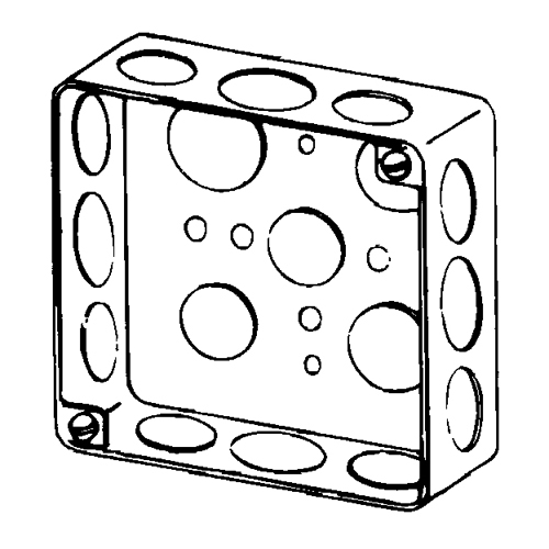 BOX 4 IN SQ DRAWN 1-1/2 DEEP 1/2/4 KOS