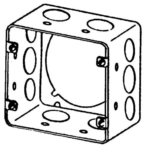 EGS 4SJDE-1/2-3/4 41116 Sq Outl Box Ext Ring