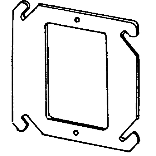 EGS 8468F 4-IN SQ 1G FLAT SW RING