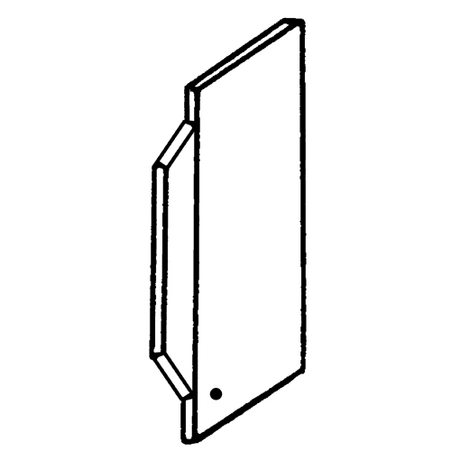 Appleton® ETP™ Box Partition, Low Voltage, 1-7/8 in Length, For Use With: Multi-Gang Switch Box, 3/4 in Raised Cover, Steel, Pre-Galvanized Finish
