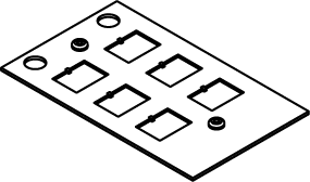 Wiremold® CRFB-6COM-4