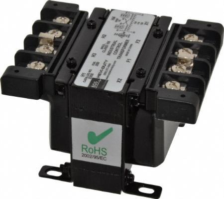 SolaHD E050JN 50 VA 600 VAC Primary 120/24 VAC Secondary Encapsulated Industrial Control Transformer