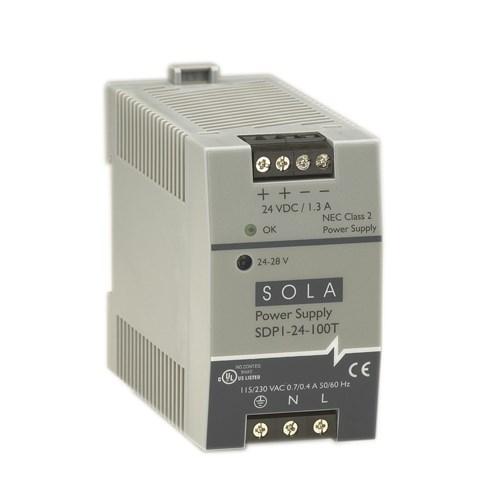 SolaHD,SDP1-24-100T,30W 24V DIN PLASTIC 115/230VIN