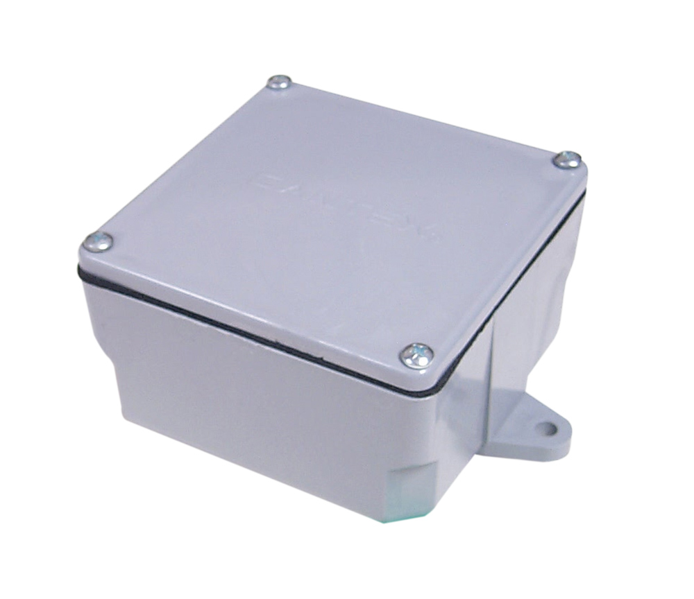 PVC Box,8X8X6 JCT BOX W/CVR,8X8X6 JCT BOX W/CVR Junction Box, Material: PVC, Size: 8.000 IN Length x 8.000 IN Width x 6.000 IN Depth, Color: Gray, Wall Mount