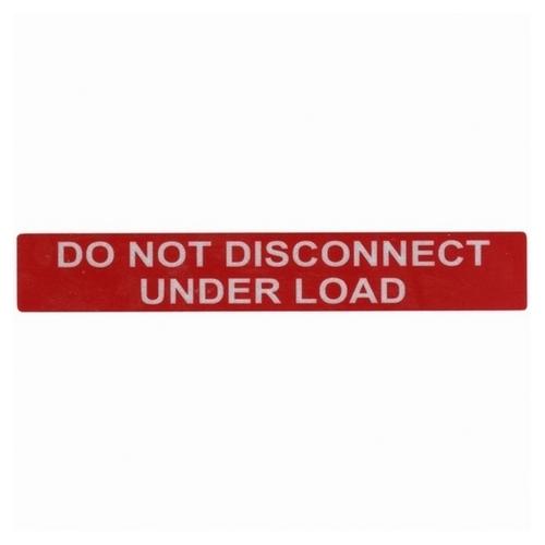 TYT596-00244 REFLECTIVE SOLAR LBL, DO NOT DISCONNECT UNDER LOAD, TYTON