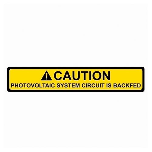 TYT596-00587 SOLAR LABEL, CAUTION - PV SYSTEM BACKFED LABEL, 4.12