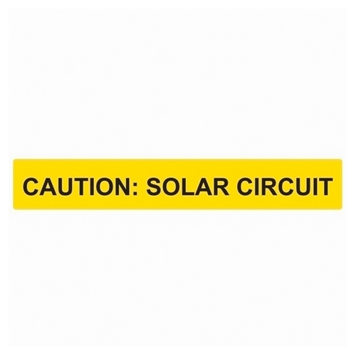 TYT596-00615 SOLAR LABEL, CAUTION - SOLAR CIRCUIT REFLECTIVE LABEL, 6.5