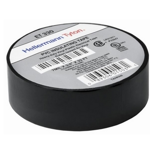 Electrical Tape, 7mil, BK, 33ft/RL