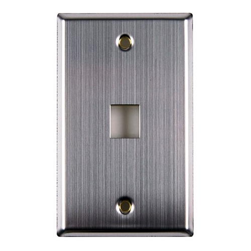 HT FPSINGLE-SS Stainless Steel SinglePort Flush Mount Faceplate