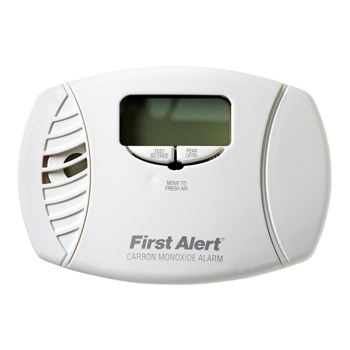 BRK,CO615B,BRK® CO615B Carbon Monoxide Detector Alarm, Electrochemical, (2) AA 1.5 VDC Battery, LED Display, 85 dB