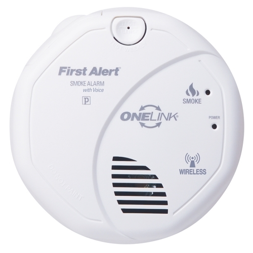 BRK,SA511B,BRK® SA511B Smoke Alarm With Voice and Battery-Backup, Photoelectric, 3 VAC with AA 1.5 VDC Battery, LED Display, 85 dB