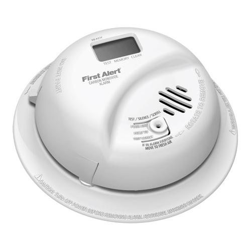 BRK,CO5120PDBN,BRK® CO5120PDBN Carbon Monoxide Detector Alarm, Electrochemical, 9 VDC Battery, LCD Display, 85 dB