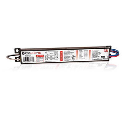 GEB GE332MAX-G-N 74456 ELECTRONIC BALLAST (2-3) LAMP F32 OR F28 OR F25 OR F17 OR FE15 T8 OR F25T12 I/S 120/277