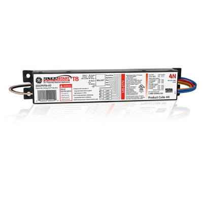 GEB GE232MVPS-N-V03 75380 ELECTRONIC BALLAST DIMMING (2)LAMP F32 OR F28 OR F17 T8 OR (1)LAMP F40T8 120/277V