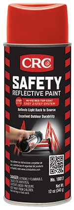 18017 CRC REFLECTIVE PAINT - RED TOP COAT