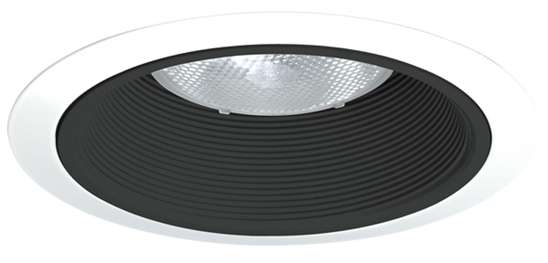 Juno,24W-WH,Juno® 24 Tapered Baffle Trim, 6 in ID x 7-5/8 in OD, Halogen/LED Lamp