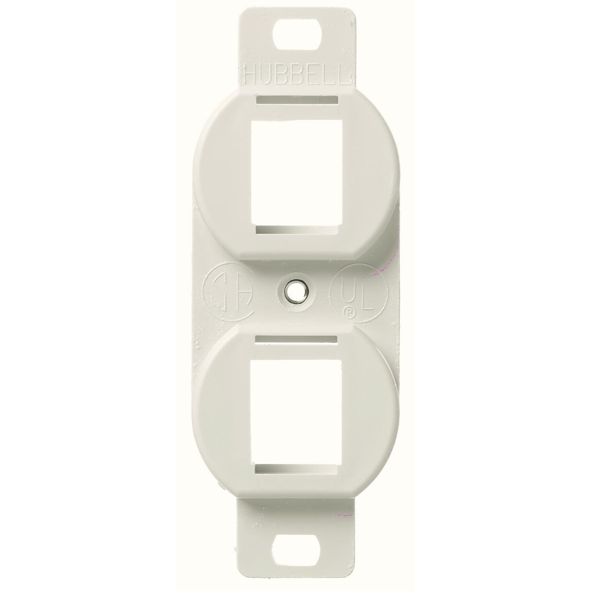 HUBPR BR106LA PLATE, FRAME, DUP, 2P, LA 2 port duplex 106 frame light almond