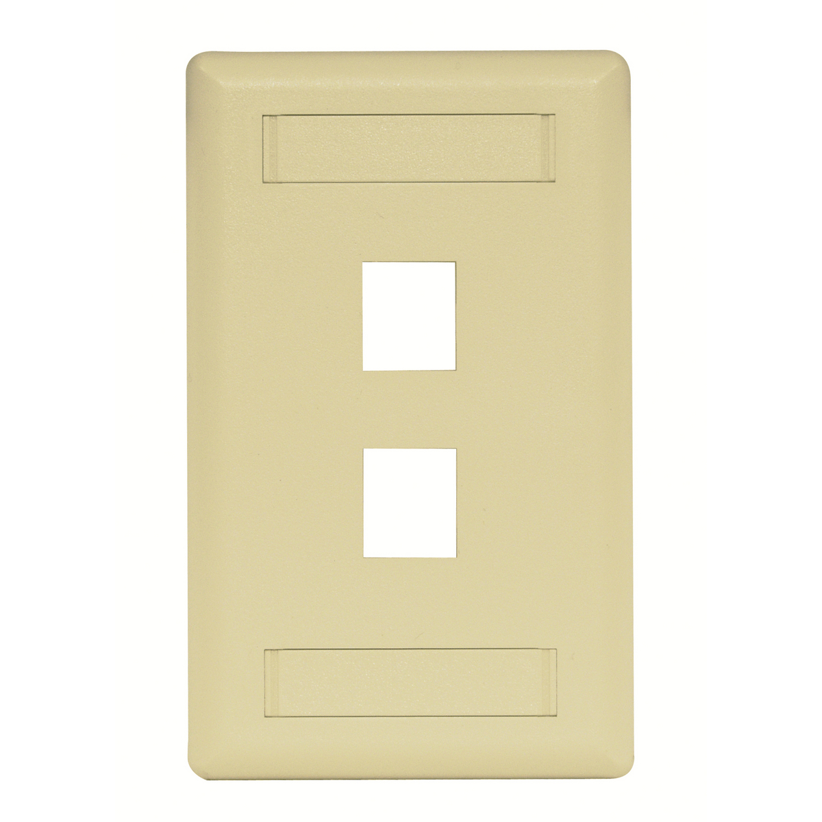 HUBPR IFP12EI PLATE, WALL, FLUSH, 1-G, 2PORT, EI 2 port single gang faceplate electric ivory